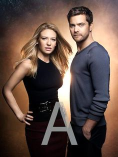 Anna Torv and Joshua Jackson #Fringe umm, what's up with the A?