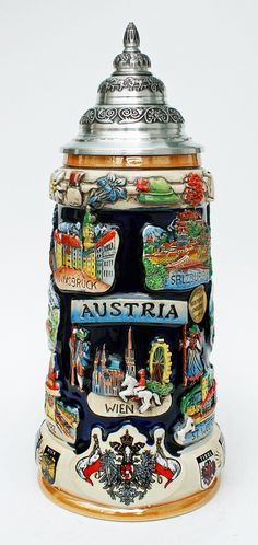 beer steins | Austria Commemorative Beer Stein - GermanSteins.com