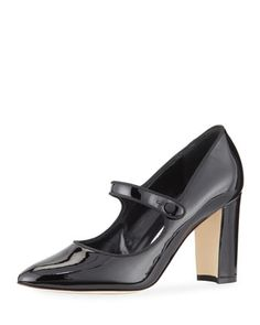 Campy Patent Leather Mary Jane Pump by Manolo Blahnik at Bergdorf Goodman.