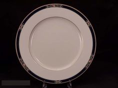 "Noritake Azure Garden #4736 Dinner Plates by Noritake Bone China. $7.49. Brand New - First Quality. Dimensions: 10 5/8"" Dia. Dinner Plates - Gold Trim - Made In Japan"