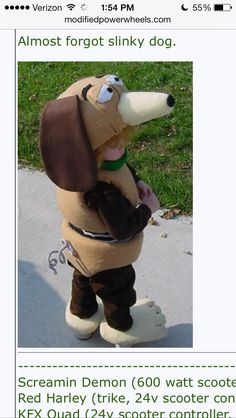 Slinky dog child's costume