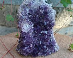 CLEARANCE SALE!!! Amethyst Crystal Cluster from Uruguay | Amethyst Cluster Cut Base, Display Piece | Healing Crystal | Mineral Specimen #108
