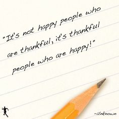 Make an effort to be more thankful!