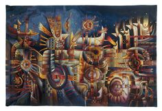 """Sonqopa Ñam"", ""Camino Espiritual"", ""Spirit Path"" 180 x 268 cm. 2010. by Maximo Laura, The Museo Maximo Laura Collection, Cuzco, Peru. Contemporary Tapestries, Museo Maximo Laura, Gallery Art, Museum, Lima, Cusco, Peru, Handwoven, Tapestry Art, Tapestry, Art, Colorful, Textures, Alpaca, Peruvian textiles, Wall Hanging, Wall Hanging Tapestries, Textiles."