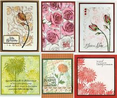 Cards created using stamps from I Brake For Stamps