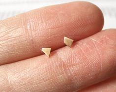 quadrilatères minuscules en or jaune 9 carats, fait main en Angleterre