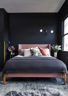 House renovation: Five-bedroom Victorian semi-detached house in Forest Hill, London Interior Design Career, Decor Interior Design, Recamaras King Size, Metal Canopy Bed, Canopy Beds, Pink Bedding, My New Room, Interiores Design, Interior Inspiration