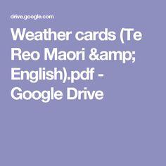 Weather cards (Te Reo Maori & English).pdf - Google Drive