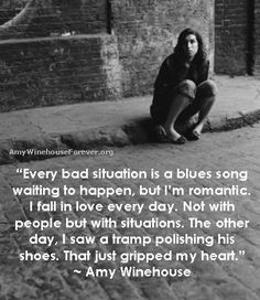 These are quotes on love from Amy Winehouse. When you get your heart broken you can't help but believe that only that person can put it . Amy Winehouse Lyrics, Amy Winehouse Quotes, I Fall In Love, Falling In Love, My Love, Lyric Quotes, Love Quotes, Quotes Quotes, Blue Song