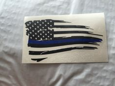 Back the Blue Distressed Flag Thin Blue Line by ThatVinylStore