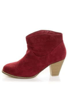 I will be stalking these til they go on sale.   lulus.com      Bamboo Saratoga 01 Wine Red Ankle Booties
