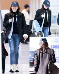 Star Fashion, Fashion Outfits, Womens Fashion, Instyle Magazine, Cosmopolitan Magazine, Korean Winter, Tennis Fashion, Korean Actresses, Airport Style