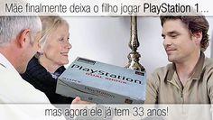Mãe finalmente deixa o filho jogar PlayStation 1… mas agora ele já tem 33 anos. Leia o artigo completo: http://wp.me/p90oS-tm #viciogame