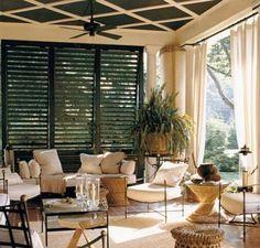Que acogedor las cortinas en la terraza!!!