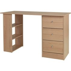 £45 Malibu 3 Drawer Desk - Beech. at Homebase -- Be inspired and make your house a home. Buy now.