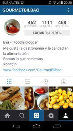 Seguimos creciendo en Instagram. @gourmetbilbao Gourmet Bilbao.