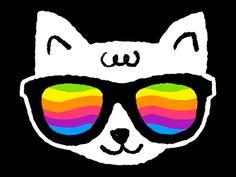 Rainbow cat by Bárbara Astrini