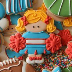 Decorated Cheerleader Cookies | The Sweet Adventures of Sugarbelle