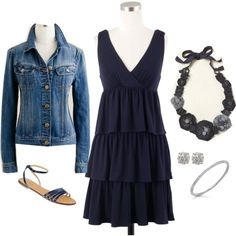 ruffles, corsage & denim, created by shopwithm on Polyvore