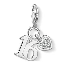 Thomas Sabo Jewellery Ladies' Sterling Silver Charm Club Lucky Number 16 Charm #Jewellery