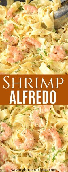 Salsa Alfredo, Shrimp Fettuccine Alfredo, Alfredo Sauce, Seafood Recipes, Pasta Recipes, Cooking Recipes, Seafood Pasta, Seafood Dishes, Recipes Dinner