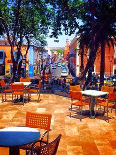 """The Italian Coffee "" Up stairs view  Atlixco ,Puebla Mexico"