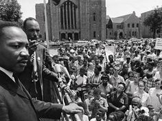 In 1955, Dr. King was recruited to serve as spokesman for the Montgomery Bus Boycott, which was a campaign by the African-American population of Montgomery, Alabama to force integration of the city's bus lines. After 381 days of nearly universal participation by citizens of the black community, many of whom had to walk miles to work each day as a result, the U.S. Supreme Court ruled that racial segregation in transportation was unconstitutional.
