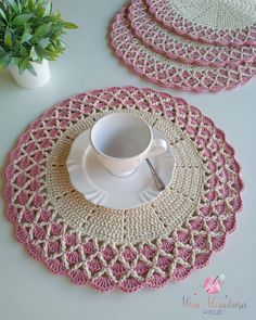 Filet Crochet, Crochet Doilies, Table Centers, Soft Furnishings, Knitting, Color, Home Decor, Crochet Heart Patterns, Home Crafts