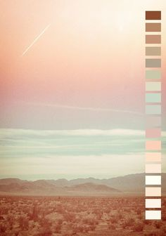 • landscape pink colors nature Peach mint color palette seafoam soft white naturalpalettes •