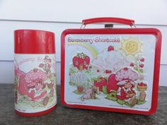 STRAWBERRY SHORTCAKE Metal LUNCHBOX 1980s by MagnoliasCaboose