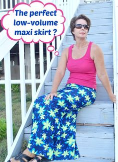 How to draft your own custom-it perfect Maxi Skirt pattern. Makes a low volume skirt that looks slimline and flattering without huge volumes of fabric.
