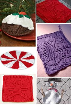 Holiday Themed Dishcloths to Knit