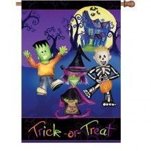 Trick or Treaters House Flag