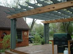 Create The Ambience With An Attached Pergola Pergolas and Walls