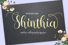 Shinthia FontDuo by Polem on @creativemarket