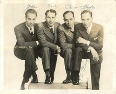 THE MARX BROTHERS - PHOTOGRAPH SIGNED CO-SIGNED BY: HARPO (ADOLPH) MARX, ZEPPO (HERBERT) MARX, CHICO (LEONARD) MARX, GROUCHO (JULIUS) MARX , http://www.amazon.com/dp/B009049BUC/ref=cm_sw_r_pi_dp_x9MYqb1H250NK