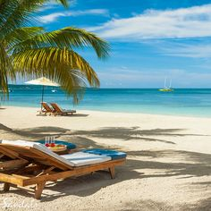 Relax on the longest, best stretch of Negril's Seven Mile Beach. | Sandals Resorts | Jamaica