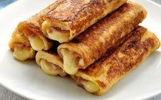 Αυγοφέτες-ρολό με ζαμπόν και τυρί του τοστ