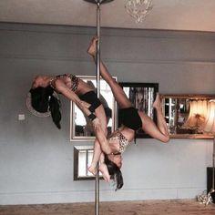 Pole doubles with my partner in crime  #polesisters #PoleDance #poleschool #PoleTricks #poledoubles #polefitness #fitness #Seifertsisters