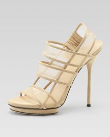 Gucci Cream Slingback Stilettos