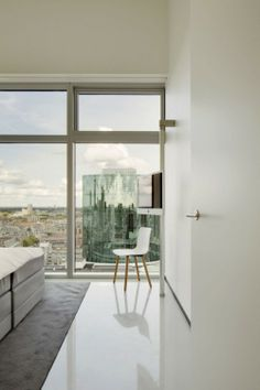 B' Tower is a minimalist house located in The Netherlands, designed by Wiel Arets Architects. The B' Tower, located in the center of Rotterd...
