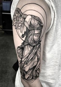 Resultado de imagem para winged victory of samothrace tattoo Best Sleeve Tattoos, Body Art Tattoos, Cool Tattoos, Tatoos, Greek Goddess Tattoo, Victory Tattoo, Nike Tattoo, Famous Tattoo Artists, Famous Tattoos