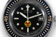"""Fifty Fathoms """"No Radiation"""" Dial.  I really love this model.  The bezel is killer."""