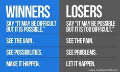 Positive thinking !!!