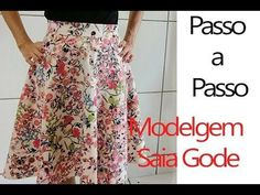 Modelagem Saia Gode + Zíper invisível. Passo a Passo!!!! - YouTube Skirts For Kids, Couture Sewing, Dress Sewing Patterns, Sewing Hacks, Diy Clothes, Blouse Designs, Ideias Fashion, Girls Dresses, My Style