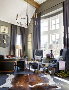 Home Office Design, Home Office Decor, House Design, Home Decor, Office Ideas, Living Area, Living Spaces, Living Rooms, Tudor Style Homes