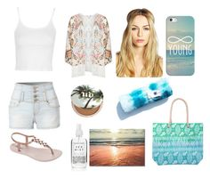 Beach look by aamna16 on Polyvore featuring polyvore, fashion, style, Topshop, Mat, LE3NO, IPANEMA, Boohoo, Casetify, Urban Decay and clothing