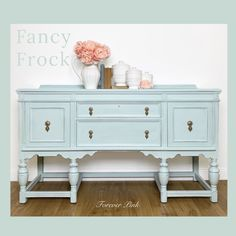 Country Chic Paint - Light Blue — Two Old Souls Blue Dining Room Furniture, Dining Room Blue, Painted Furniture, Refurbished Furniture, Double Sink Vanity, Vanity Sink, Buffet, Solid Wood Sideboard, Cottage