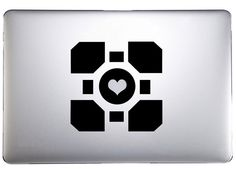 Portal Companion Cube Decal Large on Etsy, $4.99
