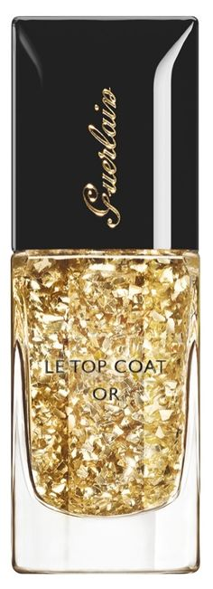Gold leaf top coat! Adding this to the nail polish collection.